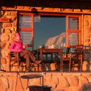 Sundowner von unserem Chalet