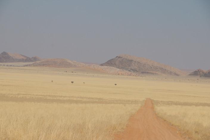 Strecke durch das Tsondab Valley Reservat zur Lodge