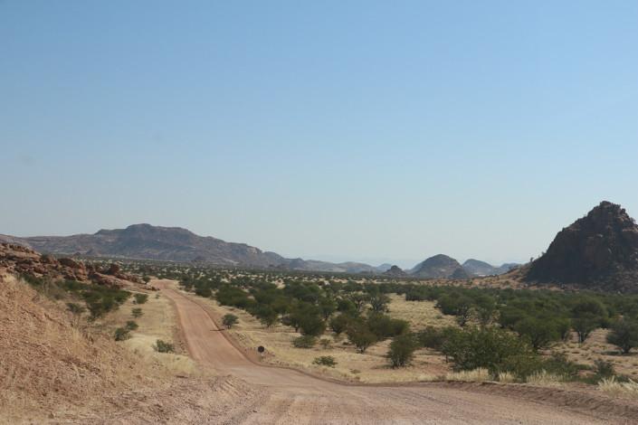 Straße D2616 im Damaraland - Namibia