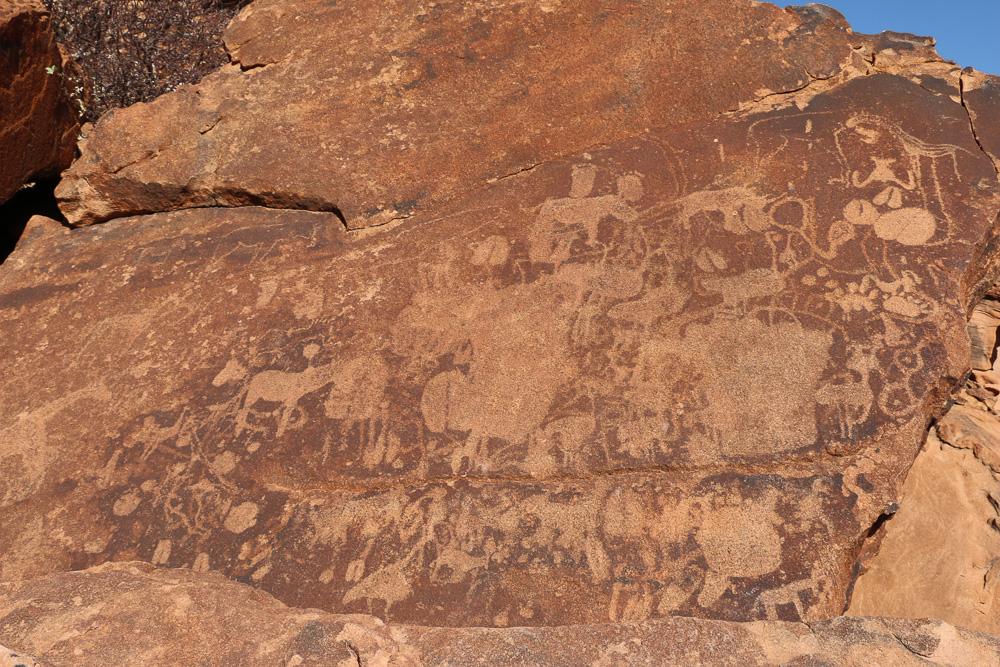 Felsgravuren von Twyvelfontein im Damaraland - Namibia