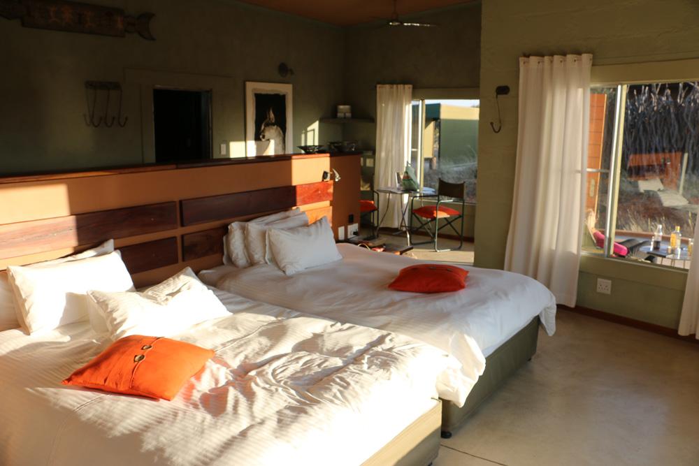 Zimmer des Standart Rooms im Okonjima Plain Camp