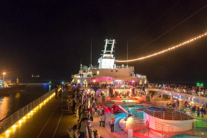 Auslaufparty auf der Mein Schiff 2 in Antalya AKdeniz