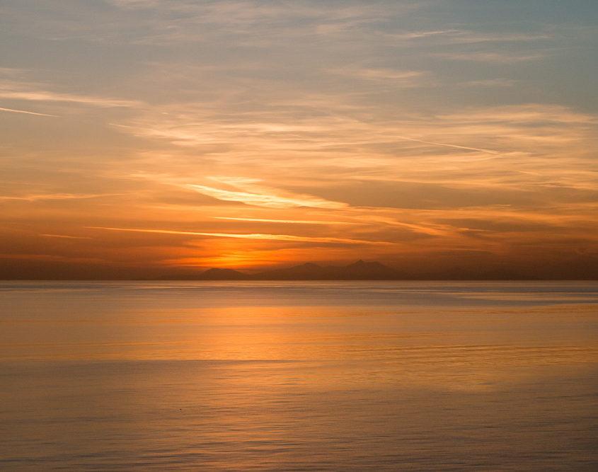Herrlicher Sonnenuntergang Mein Schiff Kreuzfahrt