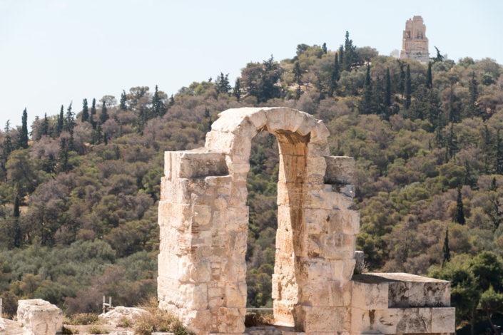 Bogen am Odeon des Herodes Atticus Theater