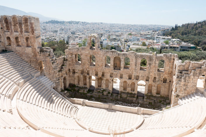 Odeon des Herodes Atticus Theater an der Akropolis