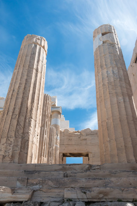 Säulen am Propyläen Torbau zur Akropolis