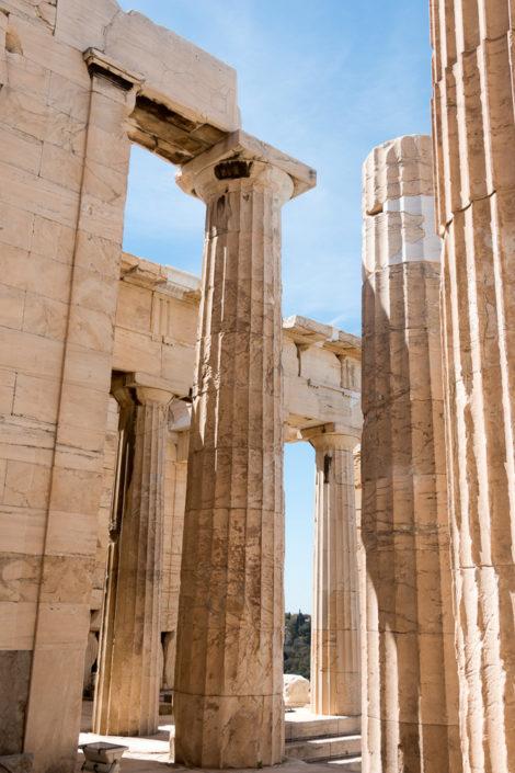 Säulen Propyläen Torbau auf der Akropolis
