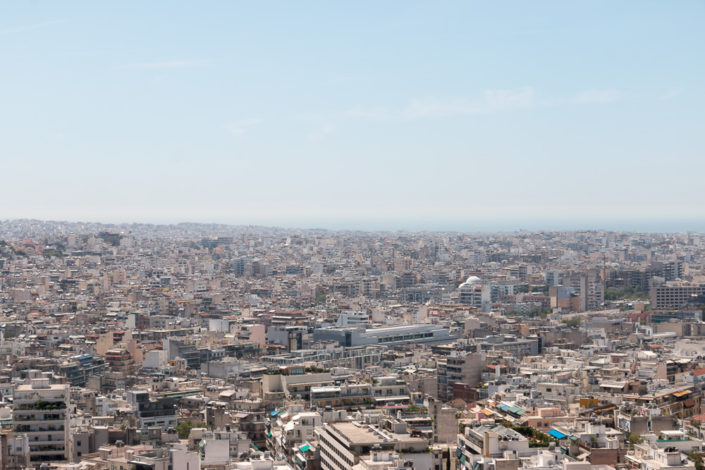 Ausblick von der Akropolis auf Athen