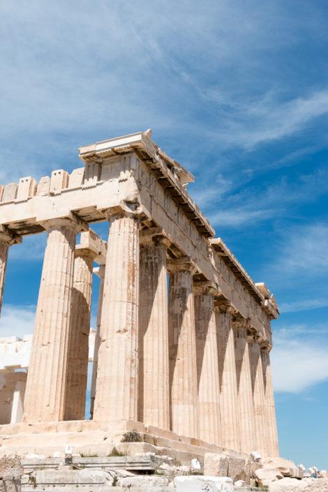 Portal des Parthenon Tempels auf der Akropolis - Kreuzfahrt Mein Schiff
