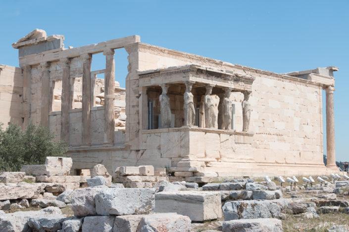 Erechtheion Tempel auf der Akropolis in Athen