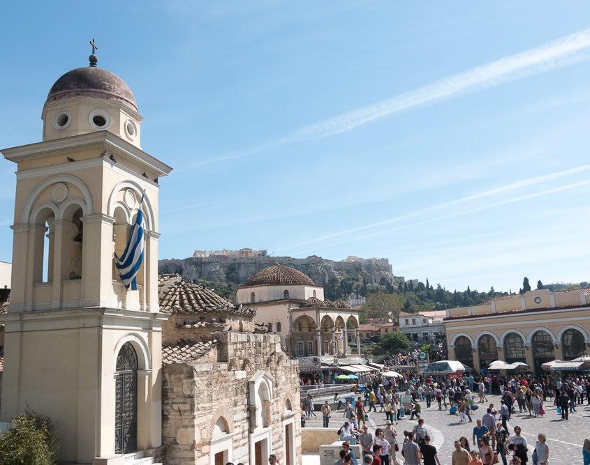 Monastiraki Platz in Athen