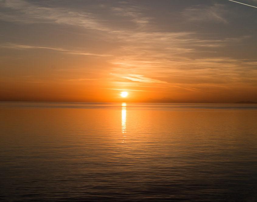 Sonnenuntergang Kreuzfahrt Griechenland