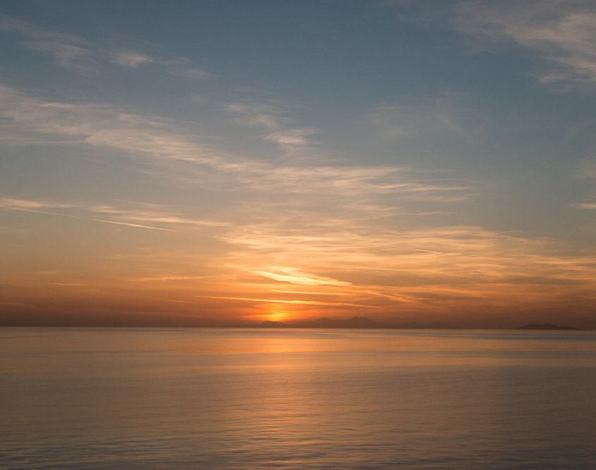 Sonnenuntergang Tui Cruises