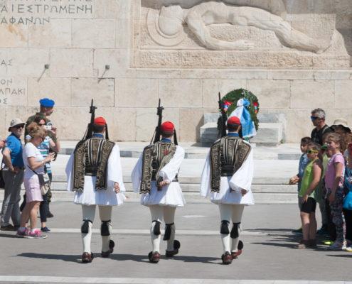 Wachablöse am Parlament in Athen