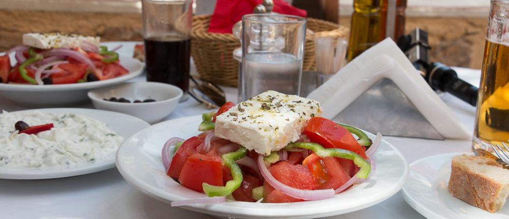 Griechischer Salat in der Taverna Semiramis