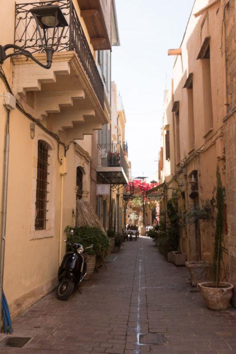 Die Altstadt von Chania wird von vielen Gassen durchzogen