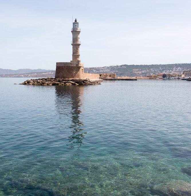 Leuchtturm Faros aus Sicht der Firas Bastion