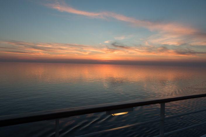 Wunderschöne Farbgebungen beim Sonnenuntergang