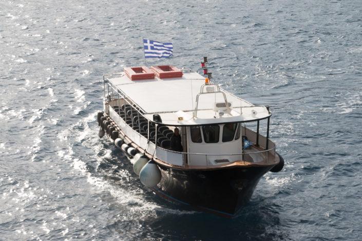 Mein Schiff Reisebericht -Santorin - Kreuzfahrt - Tenderboot Santorin