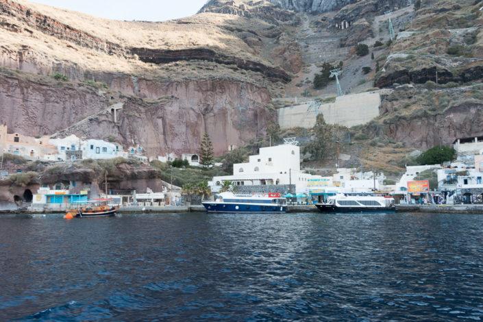 Mein Schiff Reisebericht -Santorin - Kreuzfahrt - Hafen Thira - Tenderboote