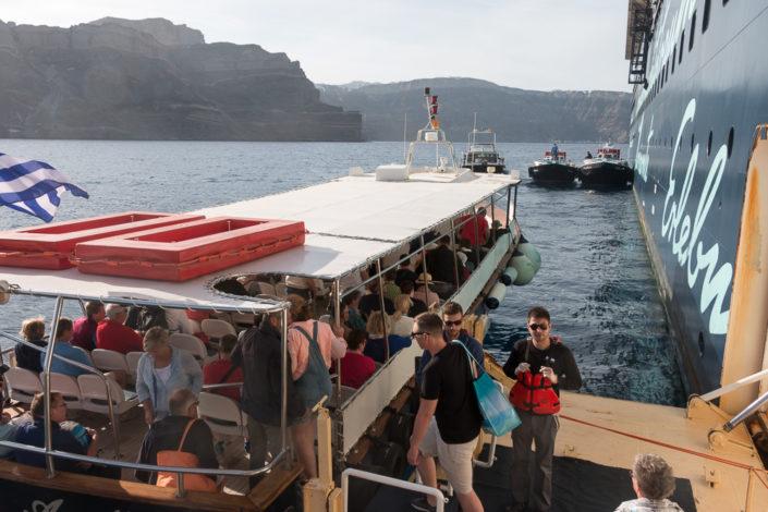 Mein Schiff Reisebericht -Santorin - Kreuzfahrt - Tendern