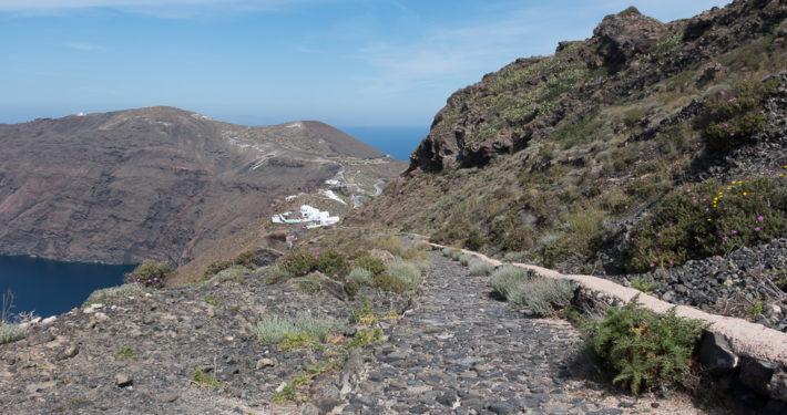 Wandern auf Santorin