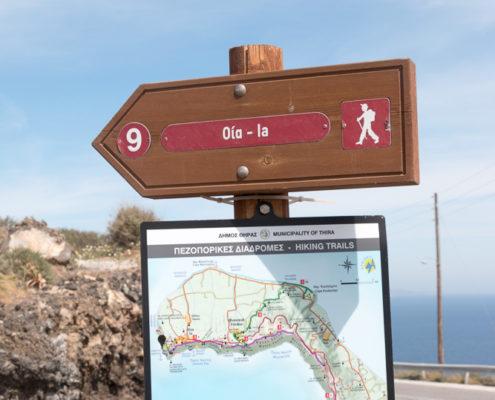 Wanderweg von Thira nach Oia