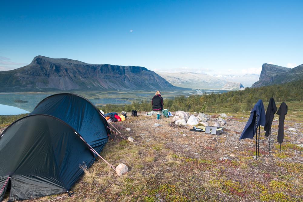 Wandern auf dem Kungsleden - Camping Rapadalen