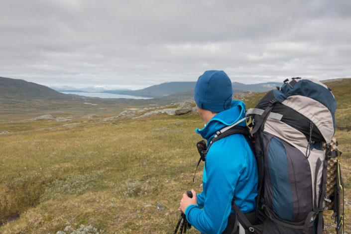 Dirk genießt die Aussicht im Norden Schwedens
