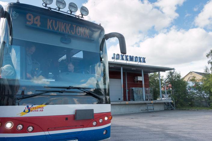Busterminal Jokkmokk Lappland