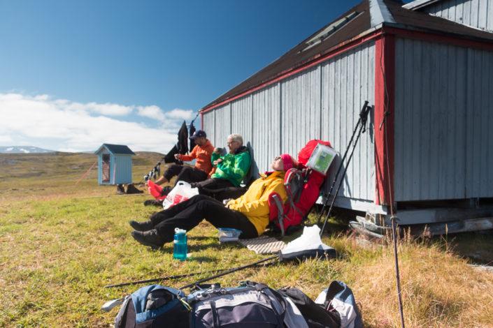 Pause an der Rebtierzüchter Hütte