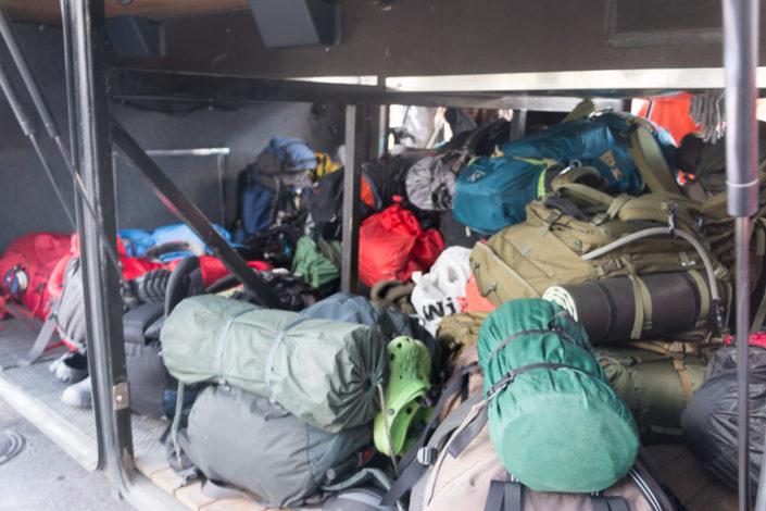 Trekking-Rucksack-Gepäck-Norbotten-Bus-Lappland