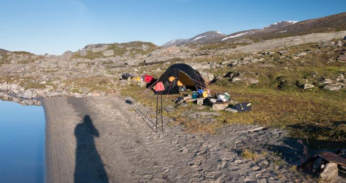 Zelt ÁLÁJÁVRRE Lappland