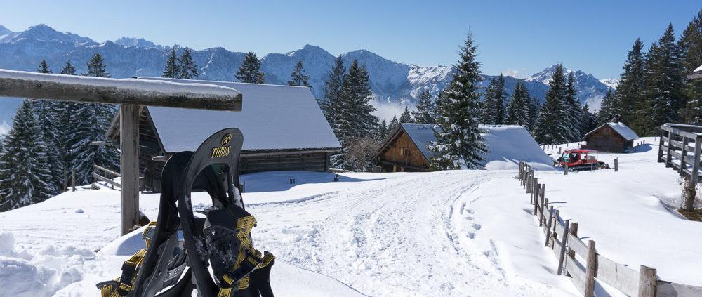 Schneeschuhe Hütteneckalm