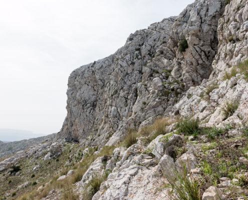 Felswand Mola de Esclope