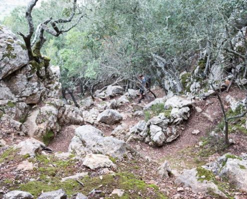 Abstieg Gipfel Sa Comuna