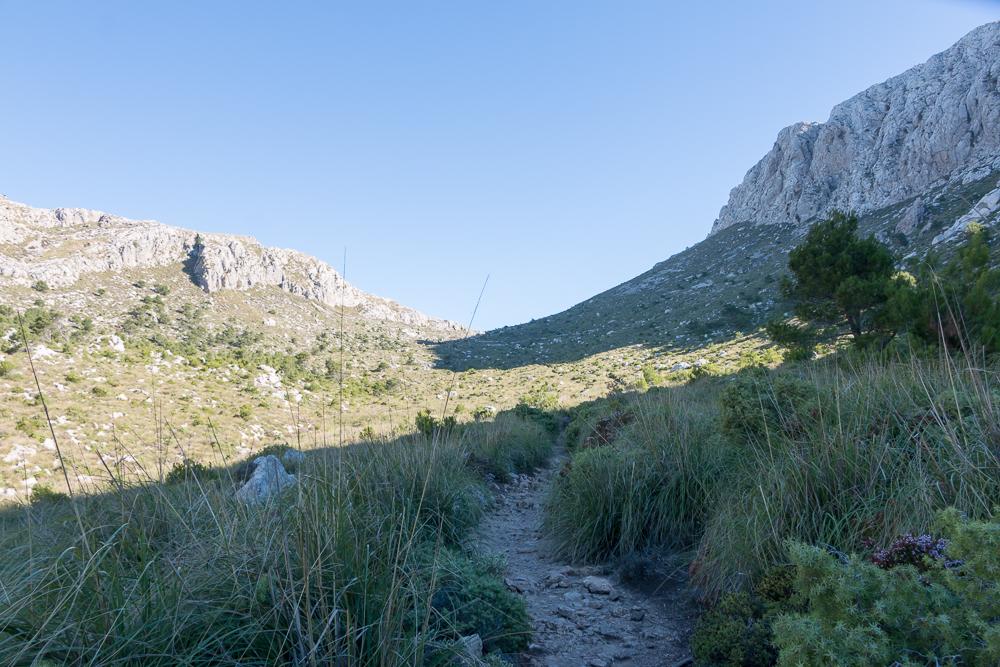 Aufstieg Coll des Prat