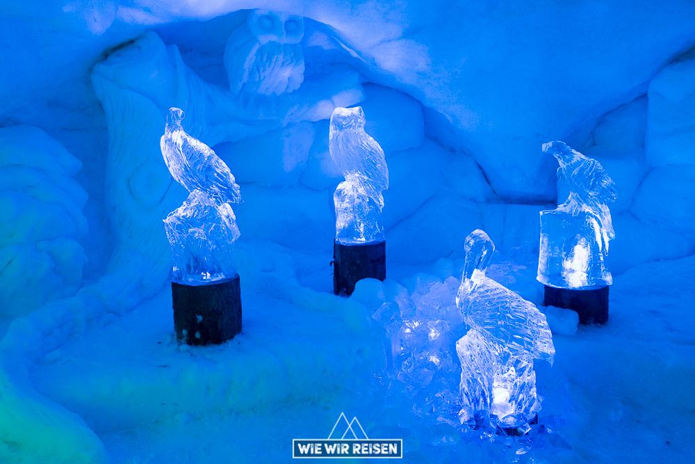 Eisskulpturen Ice Land Ausstellung Alpeniglu
