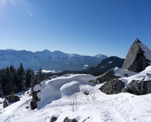 Bergsturzgelände Zwerchwand kleines Matterhorn