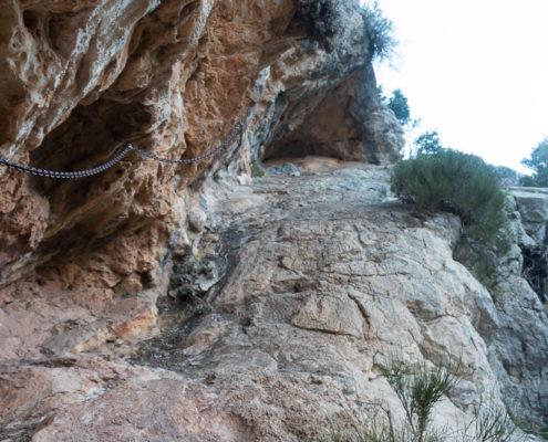 Klettersteig zwischen Cuber und Tossals Verde