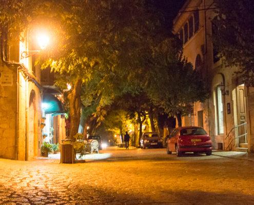 Valldemossa Straße bei Nacht