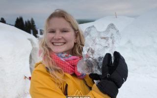 Eis schnitzen Alpeniglu