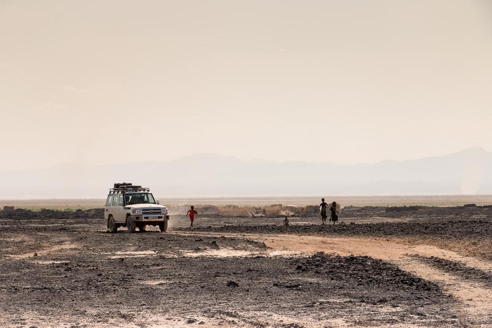 Afar Siedlung in der Danakil