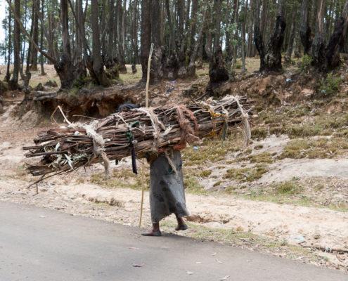 Alte Dame Entoto Hill Addis Abeba