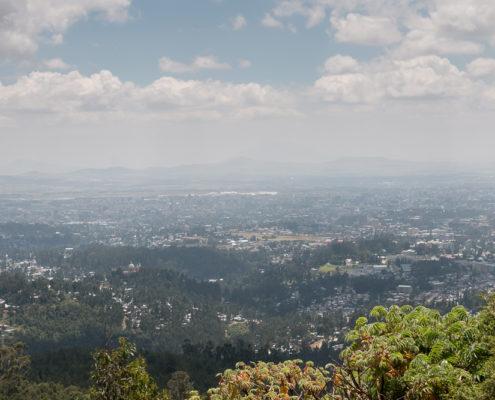 Blick von Entoto auf Addis