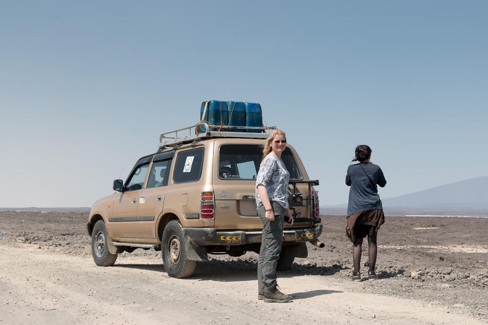 Unser Geländewagen in der Danakil