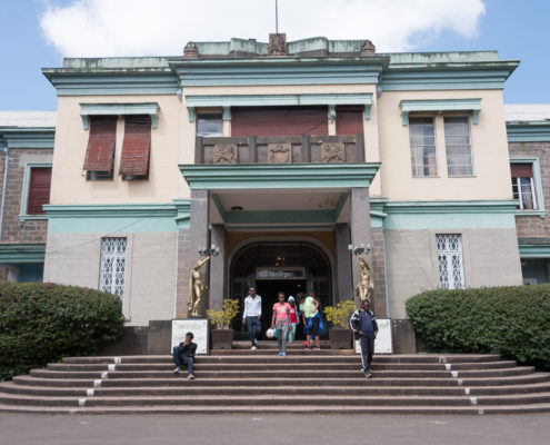 Eingang Stadtpalast Kaiser Haile Selassie