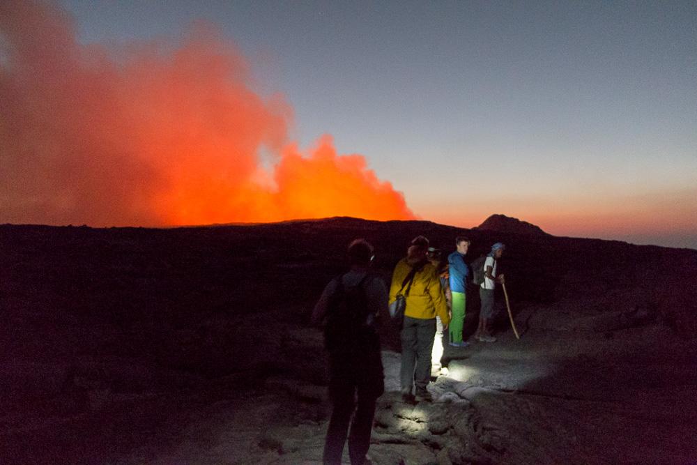 Fußweg zum Erta Ale Vulkan