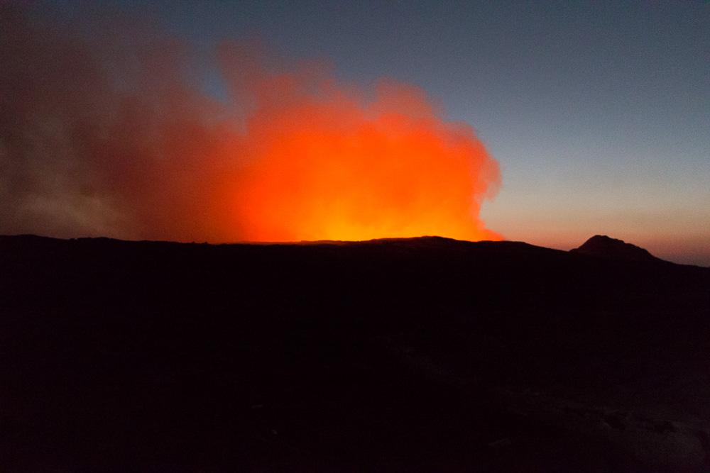 Erta Ale Vulkan in der Morgendämmerung