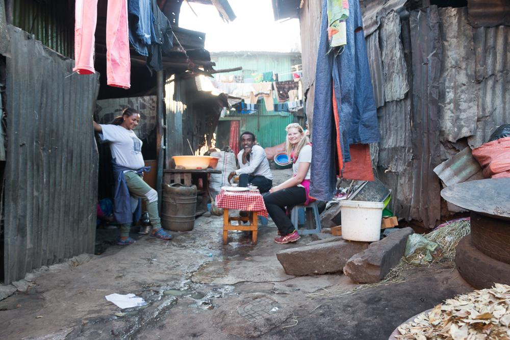 Slums von Addis Abeba